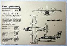 DDR Kleine Typensammlung Luftfahrzeuge - Mitsubishi MU-2 B