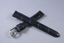 19mm Black 100% Genuine Leather Watch Band,Strap, Interchangeable, Quick Release
