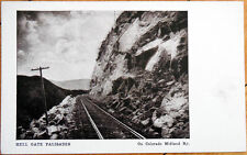 1905 Postcard: Hell Gate Palisades, Colorado Midland Railway/Railroad - CO