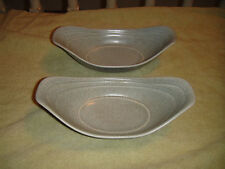 Vintage Hyalyn Pottery Serving Dishes-Elongated-Model 304-Speckle-Mid Modern