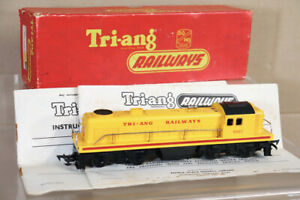 TRIANG R159 TRANSCONTINENTAL TC YELLOW DIESEL SWITCHER LOCOMOTIVE 5007 BOXED ny