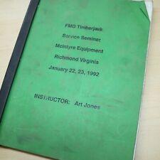Fmg Timberjack 1992 Skidder Service Seminar Manual Book Guide Handbook