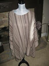 LAUREN RALPH LAUREN CASHMERE WOOL BLEND PONCHO CAPE SWEATER ONE SIZE OS NWOT