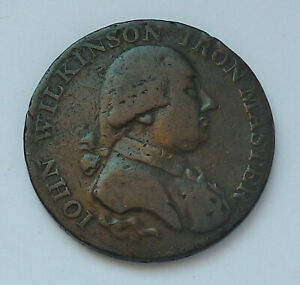 1795 CONDER - WARWICKSHIRE - JOHN WILKINSON IRON MASTER - HALF PENNY - D+H 421
