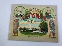 STORY OF GETTYSBURG IN PICTURES ANTIQUE GRAPHIC ILLUSTRATED CIVIL WAR BOOK