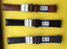 Bracelet ,Montre,Lot ,3 Couleurs Différentes  En Cuir Avec Boucle Déployante