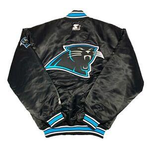 Vtg Rare NFL Carolina Panthers Satin Starter Jacket. Mens Medium