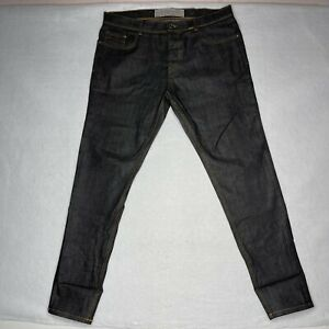 Black Tag By Zara Man Denim Wear Size 32 Fits Like 34/30 Slim Leg Faded Black