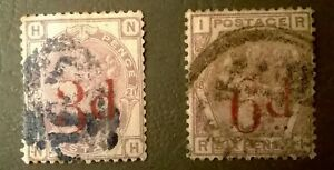 Great Britain QV SC 94-95 * SG 159/162 *1883 3p & 6p Lilac Overprint Classics