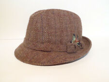Mens Mallory by Stetson Brown Wool Hat Feathers Fedora 7 3/8