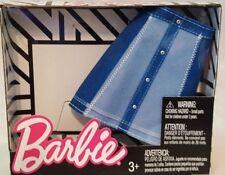 Barbie Fashion Pack Light & Dark BluE Denim Skirt 3+ New