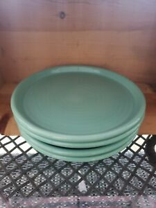Crate and Barrel New RARE Farmhouse Teal Mint  Stoneware Dinner Plates set of 4