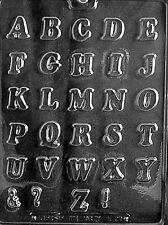 L039 Letters Alphabet A-Z Chocolate Candy Soap Mold with Instructions