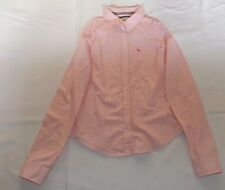 "LADIES VINTAGE LARGE ABERCROMBIE & FITCH PINK WHITE STRIPED SHIRT CHEST 38"" 97cm"