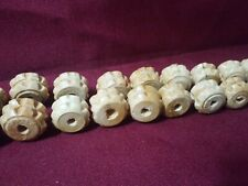 DIY Wood wheel beads 24 pcs
