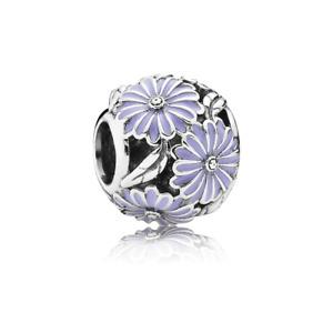 Pandora Genuine ALE 925 Silver Lavender Daisy Meadow Charm 791487EN66 D52