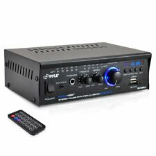 Pyle Home Power Amp Bluetooth Mini Blue Series Stereo