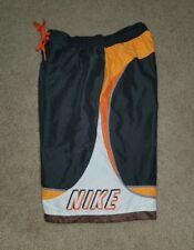 NIKE Men's gray with multi gray orange white Swim Trunks/board shorts SMALL S