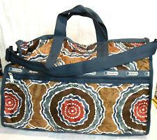 LeSportSac Large Weekender Batik Browns Circle Patterns 2211 D236 NWT $120