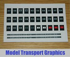Class 73 Southern Region 2 Character Display Blinds EMUs Dapol & Lima OO Gauge