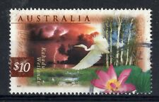 AUSTRALIA = QE2 era, 1997 $10 Kakadu Wetlands. FINE USED. (b)