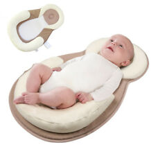 Infant Baby Cotton Anti Roll Pillow Sleep Pad Prevent Flat Head Cushion Mattress