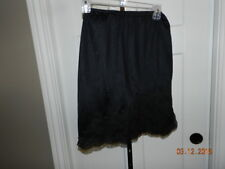 Vintage Van Raalte Half Slip Women Small Nylon Black w Lace Trim Detail