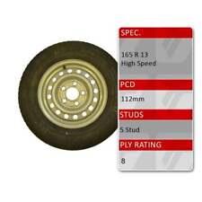 "TRIDENT 165R13C 5 Stud 112mm PCD 13"" Inch Caravan Trailer Spare Wheel Tyre"
