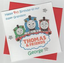 Personalised Handmade Thomas the Tank & Friends Birthday Card - Son, Brother etc