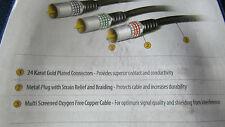 3 metri di alta gamma di prestazioni Componente Cavo 24k ORO intrecciato Connettori 1080