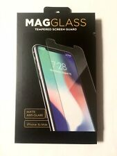 NEW Mag Glass Tempered Screen Guard iPhone Xs Max Matte AntiGlare Clear Easy