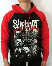 SLIPKNOT FACES TWO TONES HOODIES PUNK ROCK BLACK RED MEN'S SIZES