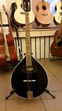 Black octave mandolin, short scale Irish bouzouki, made in Romania, solid wood