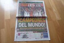 DIARIO AS, NUEVO. MUNDIAL DE CLUBES 2014,REAL MADRID 2-SAN LORENZO DE ALMAGRO 0.