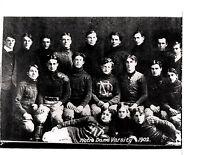 1902 NOTRE DAME IRISH FOOTBALL 8X10 TEAM PHOTO   NCAA ROCKNE INDIANA