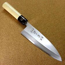 Japanese Kitchen Deba Knife 180mm 7.1 inch White Steel Shirogami #3 SEKI JAPAN