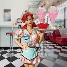 Retro 1950's 3 Ft Tall  Mid Century Diner Diva Sculpture Deocr