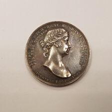 Allemagne Prusse Médaille argent par Loos Mort de la reine Louise de Prusse 1810