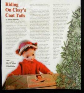 6p History Article + Pics -  VTG Madame Alexander Cissy Doll &  Her Coats