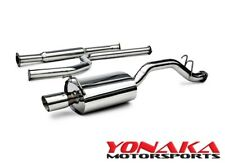 "Yonaka 2006-2011 2.5"" Piping Honda Civic 4DR Sedan Catback Exhaust Muffler SS"