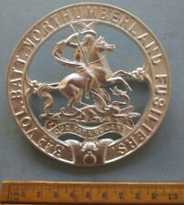 3rd Volunteer Battalion Northumberland Fusiliers silver piper's plaid brooch