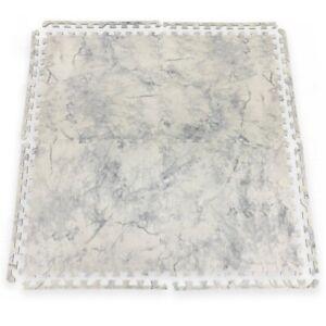 Marble Effect Interlocking Soft Foam Mat Door Bathroom Kitchen Living Room Tiles