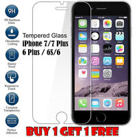 100% Genuine Tempered Glass Film Screen Protector For Apple iPhone 7 / 7 Plus 6