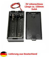 Akku-/Batteriehalter für 2xAA (3V) - Batteriegehäuse - Batterycase