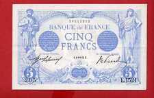 (Ref: L.152) 5 FRANCS BLEU JANVIER 1913 (SUP+)