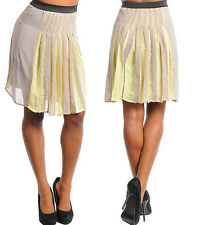 Polyester Solid Regular Size Mini Skirts for Women