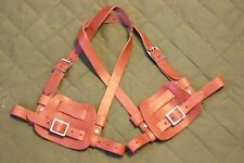 SnowShoe Bindings/ Harness Split Leather - Indian Red