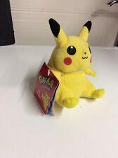 Pokemon Pikachu Hasbro Soft Plush Toy Age 3+ #25 Yellow Good Used Bean Vintage