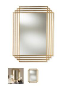 Gold Finished Rectangle Accent Wall Mirror