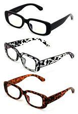 3 Pairs Rectangle Blue Light Blocking Reading Glasses Women Retro Bold Anti UV